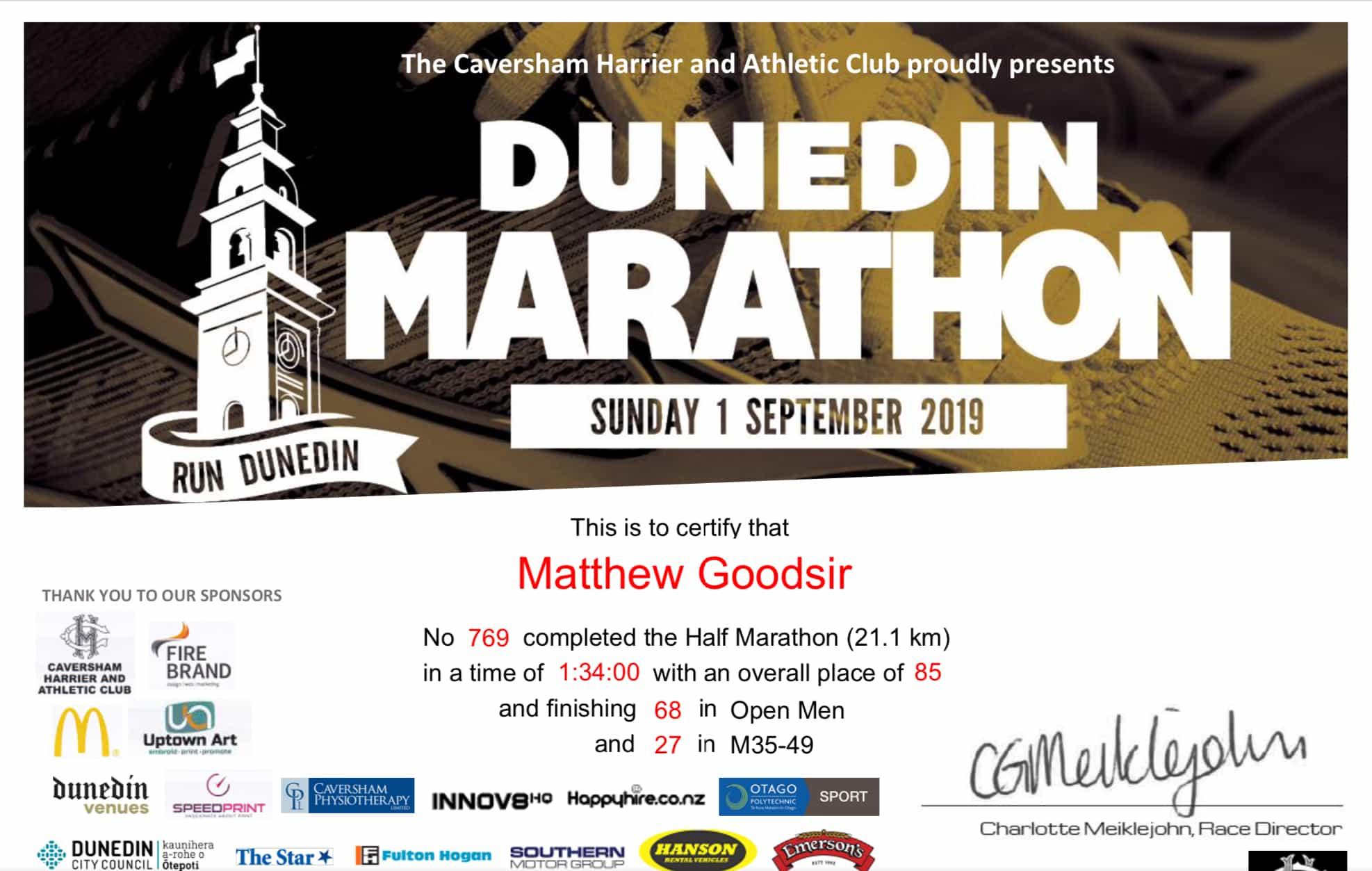 Dunedin 12 Marathon